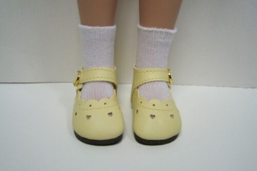"LT Light YELLOW Heart Doll Shoes For Tonner 14/"" Betsy McCall DEBs"