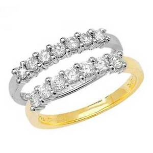 9ct-White-or-Yellow-Gold-7-Stone-Diamond-0-25ct-to-0-50ct-Half-Eternity-Ring