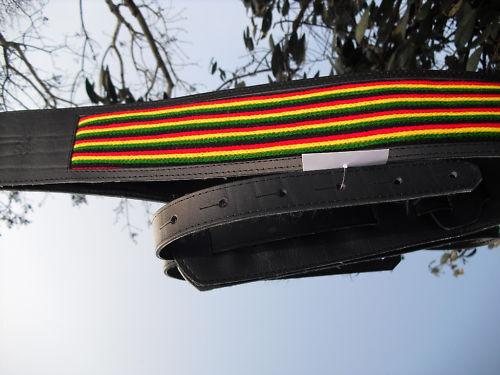 Blue Bud Reggae  Leder GITARRENGURT guitarstrap auch XL