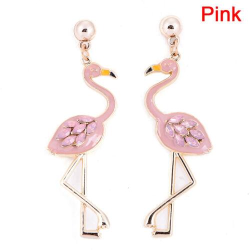 Flamingo Pendant Earrings Drop Dangle Ear Stud Earrings Jewelry Women Pip XDUK