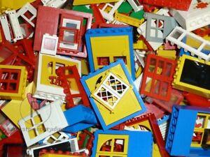 LEGO-25-Tueren-und-Fenster-verschiedene-Farben-und-Formen-Doors-and-Windows