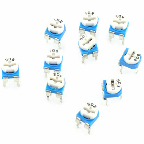 100 Pcs Set 10 Values Multiturn Variable Resistor Trimmer Potentiometer Set DE