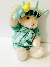 Macy's 2005 Statue of Liberty Bear Gund plush New York Torch Crown Gown
