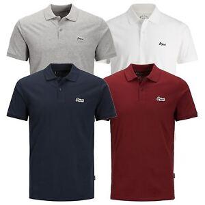 Jack-amp-Jones-Jet-Homme-Polo-T-Shirt-Jersey-Manches-Courtes-Col-Haut-Decontracte