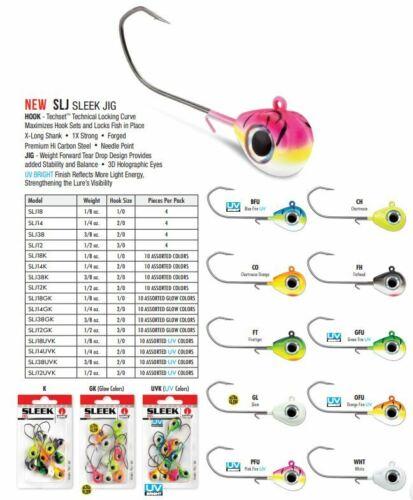 Kit Très Comme neuf condition slí élégant Jig 3//8 1//2 oz Choisissez Assortiment Glow UV ou neuf dans emballage 2020