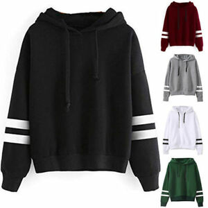 Fashion-Women-Plain-Pullover-Hoodie-Warm-Hooded-Work-Hip-hop-Jumper-Sweatshirt