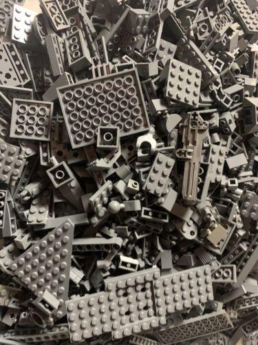lego bulk LOT BRICKS PLATES AND PIECES 1//4LB DARK GRAY