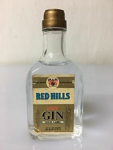 Mignon-Miniature-Buton-Red-Hills-Dry-Gin-Gold-Label-40cc-45-Vol-Vintage