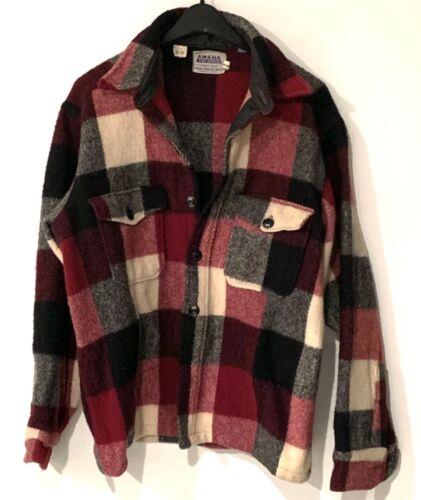 amana mens wool shirt jacket Size large