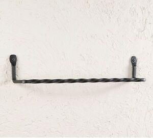 Image Is Loading 16 034 Twisted Wrought Iron Wall Towel Bar