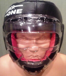 NEW! W1 Headgear with Plexiglass Cage - Boxing, Kickboxing, Sparring, MMA UFC
