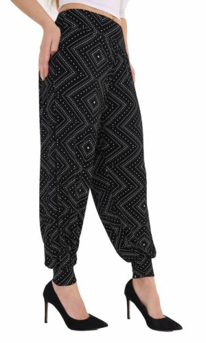 Womens Full Length Harem Alibaba Trouser Ladies Plain /& Printed Pants Leggings