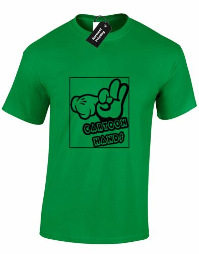 Cartoon hands grossier drôle offensive homme t shirt tee disney dessin animé cadeau