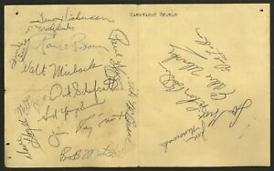 18-Cleveland-Browns-1959-Autographs-HOF-Paul-Brown-Lou-Groza-Dick-LeBeau-SIGNED