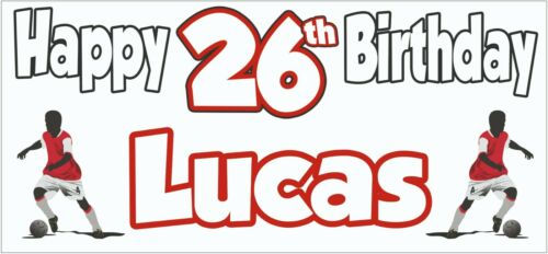 Football Silhouette 26th Birthday Banner x2 Party Decorations Mens ANY NAME