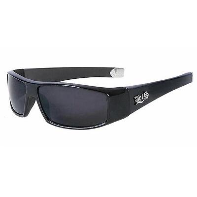 Limited BLACK Locs SUPER DARK Motorcycle Sunglasses NEW