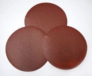 Silverline 10pc Hook & Loop Sanding Discs 125-300mm 60-400 Grit Sandpaper Plain