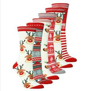 Christmas-Socks-Women-039-s-Men-Cute-Winter-Soft-Warm-Stocking-Hosiery-Xmas-Gift