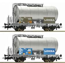 Roco 76151 Set 2 Kesselwagen LONZA SBB auf Wunsch Achstausch für Märklin gratis