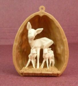 German-Import-Three-Deer-in-Walnut-Shell