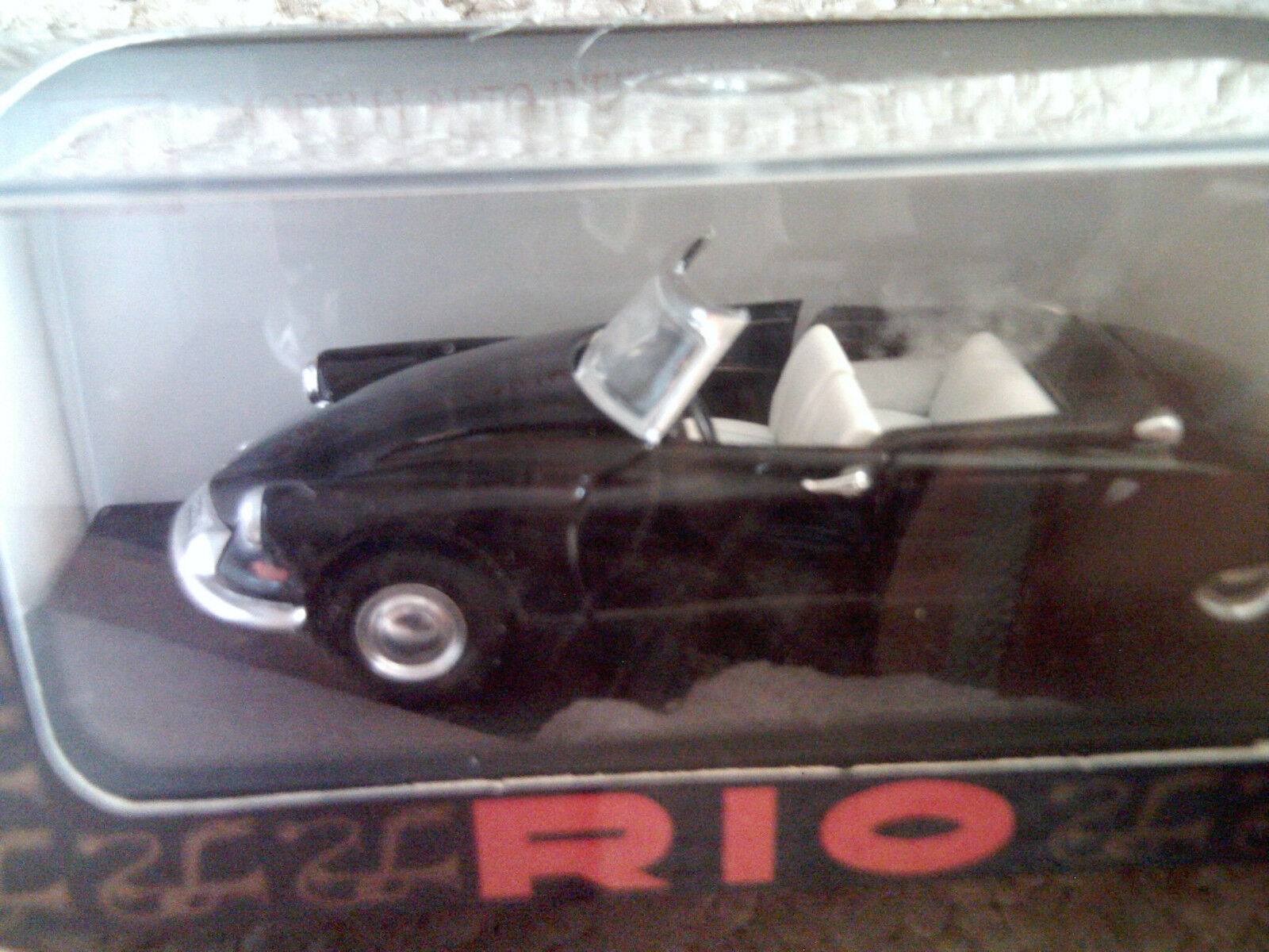 Rio 1 43 Citroen DS 19 Cabrio 1961 Mt de coche de juguete nunca quitado de la Caja Raro Negro 98  nunca Abierto