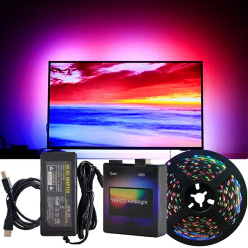DIY Ambilight TV USB WS2812B LED Strip Tape Computer PC Dream Screen Backlight