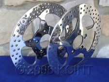 """11 1/2"""" STAR POLISHED FRONT BRAKE ROTOR PAIR FOR HARLEYS 1984-UP WITH FREE BOLTS"""