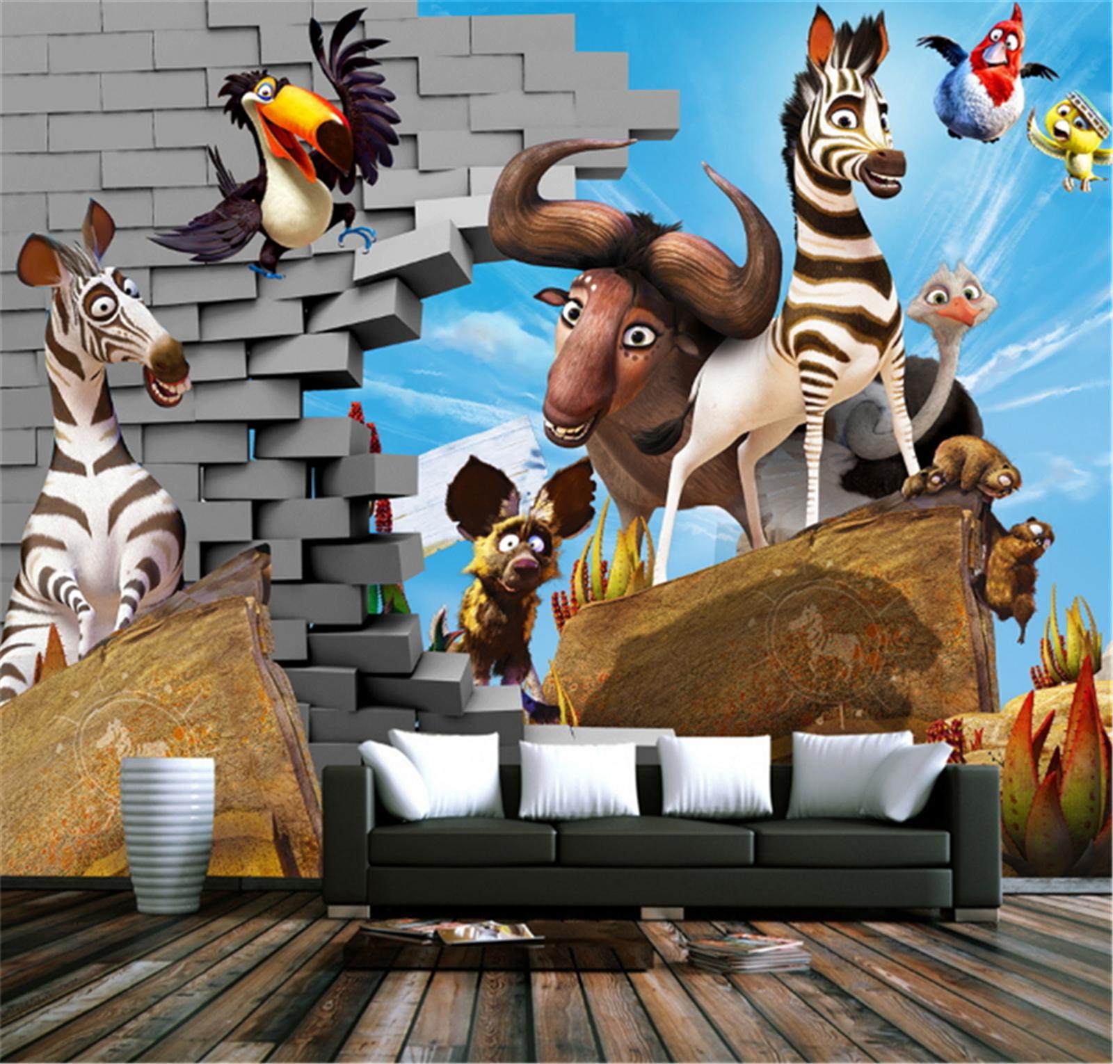 3D Tier Karikatur Kind 8003 Tapete Wandgemälde Tapeten Bild Familie DE Lemon