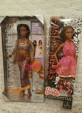 Lot of 2 Barbie Dolls Fashionistas & Hollywood Nails African American