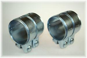 Conector de escape abrazadera de tubo doble abrazadera Ø 70 mm x 125 mm