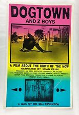 Vintage Dogtown Skateboards and Z Boy movie Silkscreen Poster Jay Adams original