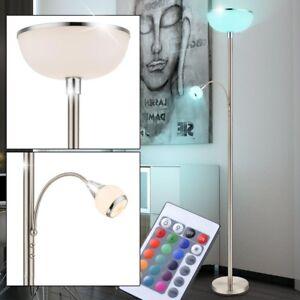 11w rgb led deckenfluter wohnzimmer leuchte dimmbar flur b ro lampe farbwechsler ebay. Black Bedroom Furniture Sets. Home Design Ideas
