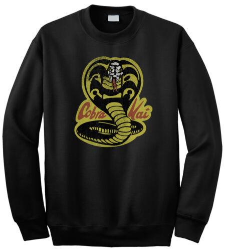 Cobra Kai Karate Kid ispirato Mens SWEATER 80/' S Stile Retrò Felpa