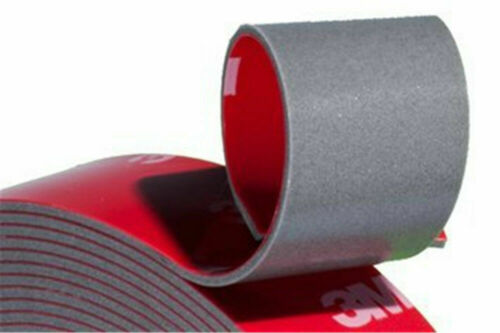3M Vehicle Double Sided Sticker Car Adhesive Acrylic Tape Clear /& Grey Foam Auto