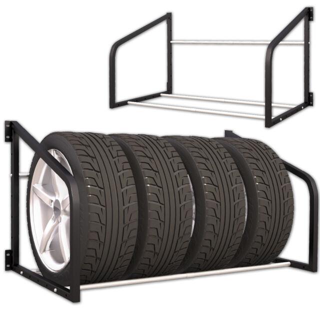 Reifenregal für 4 Reifen Regal Wandhalterung Reifenhalter KFZ Wandregal