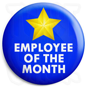 image is loading employee of the month 25mm button badge employers - Employee Of The Month Award