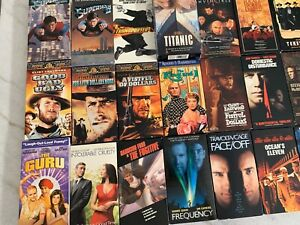 VHS-TAPES-136-Tapes-in-a-VARIETY-OF-Titles-And-Genres-also-12-Trials-Of-Life-Set