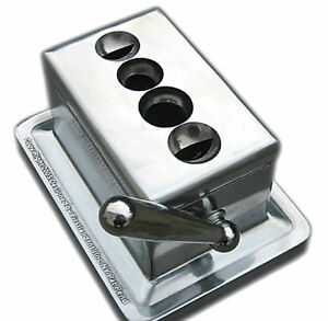 Edelstahl-chirurgische-Blade-Quad-V-Tisch-Zigarre-Cutter-II-Desktop-Gusskoerper