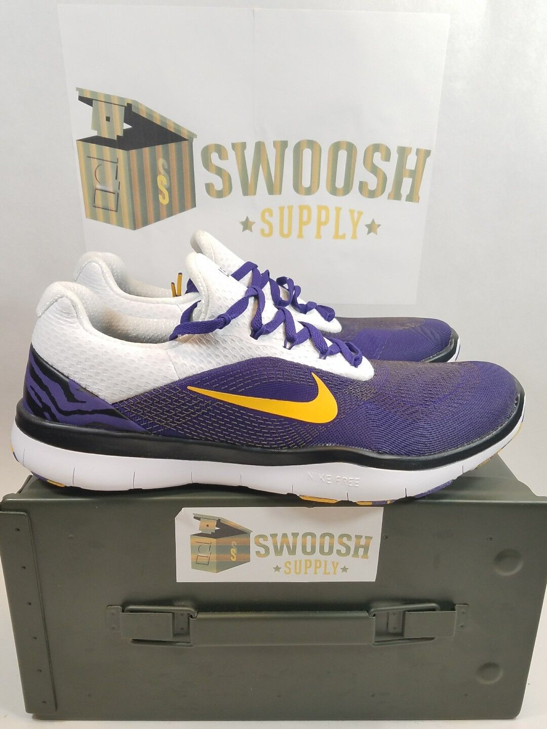 Nike LSU Tigers Free Trainer V7 Week Zero Mens 8 AA0881 500 New