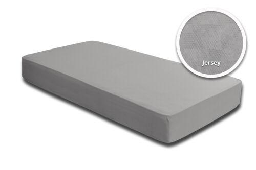 Spannbettlaken Spannbetttuch 140 x 200 cm 160 x 200 cm silber grau Jersey