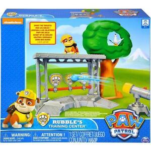Paw Patrol Rubbles Training Centre Playset 2 Figures Target Shooting ... 49e5a87fd9