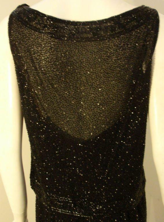 CEIL CHAPMAN 1960s Vintage 2 pc Black Beaded Gown - image 6