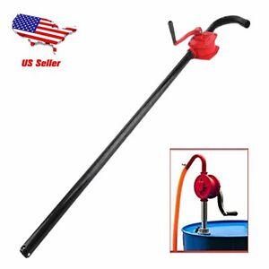 Manual Hand Crank Rotary Pump Oil Fuel Transfer Suctin Drum Barrel 55 Gallon HM
