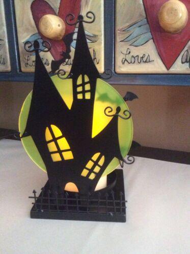 YANKEE CANDLE 2015 HALLOWEEN SILHOUETTES BATTY HAUNTED HOUSE JAR HOLDER NIB NEW