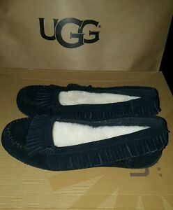 03b0aeaaaf1 Details about I heart ugg slippers shoes juniors girl size 4 Lily Model  1013574 Black
