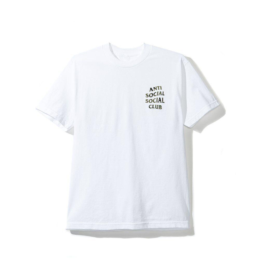 NIP Anti Social Social Club Woody White Tee XL NWT ASSC Shirt Camo Woodland DS