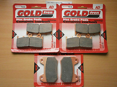 BMW K1200 LT (2001-2010) K1200LT ' FRONT & REAR BRAKE PADS ' FULL SET SINTERED