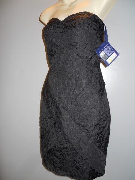 New Jean-Paul Gaultier 4 Target schwarz Strapless Wiggle Pencil Dress Prom Goth 5