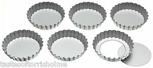 Kitchen-Craft-Set-of-6-10cm-Individual-Loose-Bottom-Tartlet-Quiche-Baking-Tins