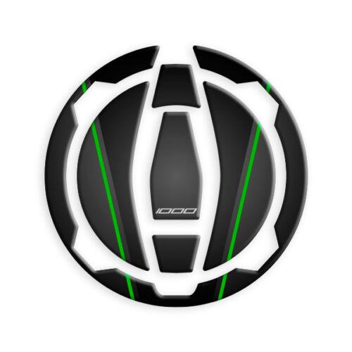 PROTEZIONE TAPPO BENZINA RESINA KAWASAKI VERSYS 1000 2019 GP-594 Black Green